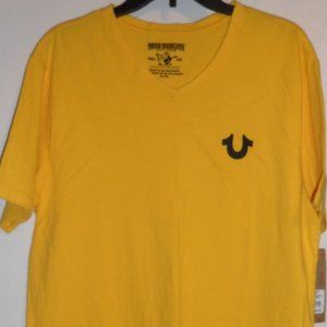 NWT: True Religion Men's Yellow T-Shirt, Size XL